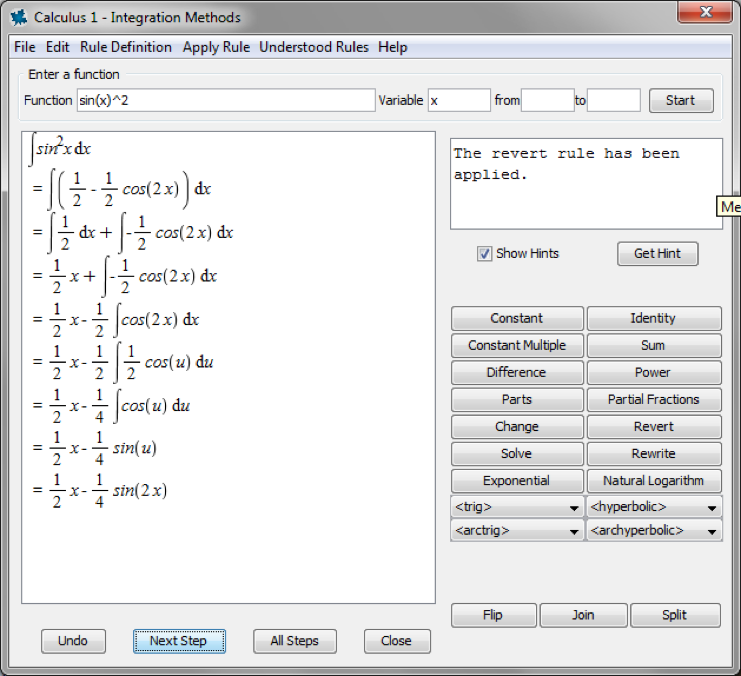 Calculus Tutor available in Maple math software